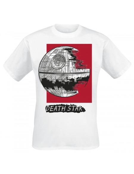Star Wars Étoile De La Mort T-shirt blanc