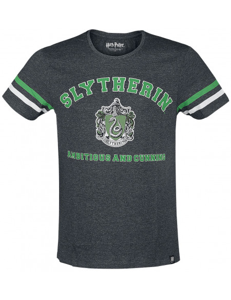 Harry Potter Slytherin - Ambitious And Cunning T-shirt gris chiné