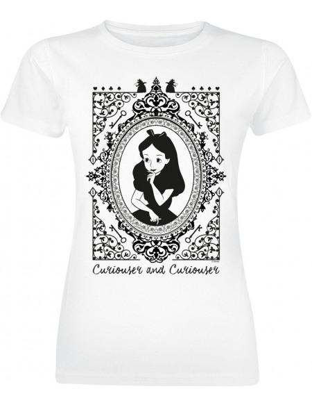 Alice Au Pays Des Merveilles Cadre Alice Au Pays Des Merveilles T-shirt Femme blanc