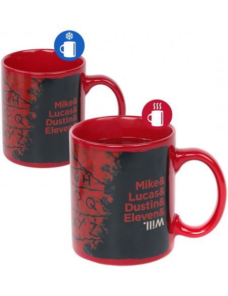 Stranger Things R,U, N - Mug Thermo-Réactif Mug multicolore