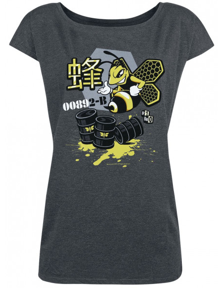 Breaking Bad Bee Ink T-shirt Femme gris sombre chiné