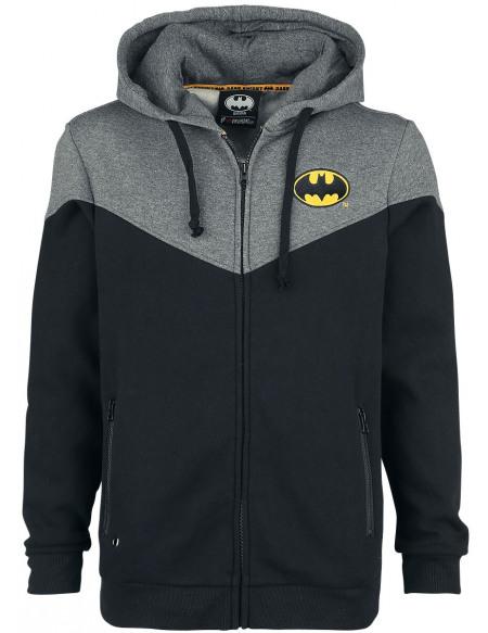 Batman Bat-Logo Sweat Zippé à Capuche noir