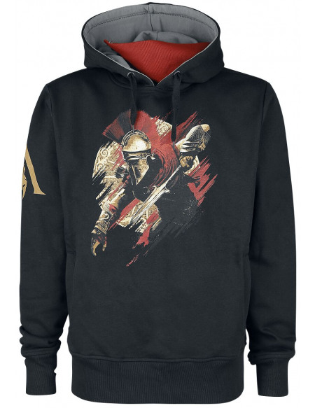 Assassin's Creed Alexios Sweat à capuche noir/gris/rouge