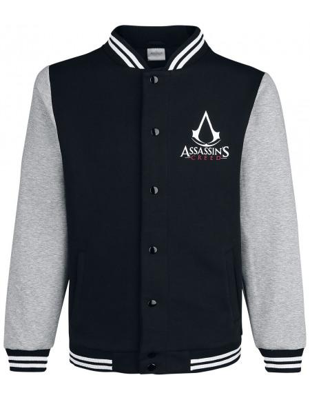 Assassin's Creed Emblème Veste de Football Américain noir/gris