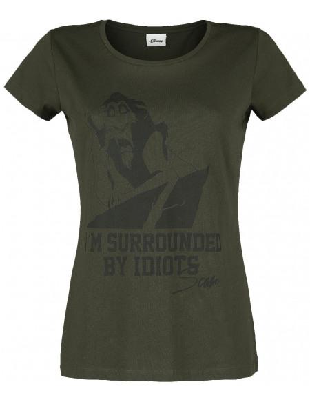 Le Roi Lion Scar - I'm Surrounded By Idiots T-shirt Femme lilas