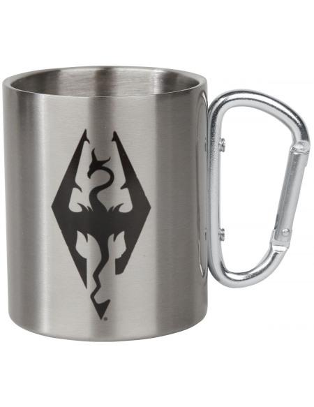 The Elder Scrolls Skyrim - Symbole Dragon - Mug Avec Mousqueton Mug couleur argent