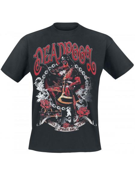 Deadpool Pirate T-shirt noir