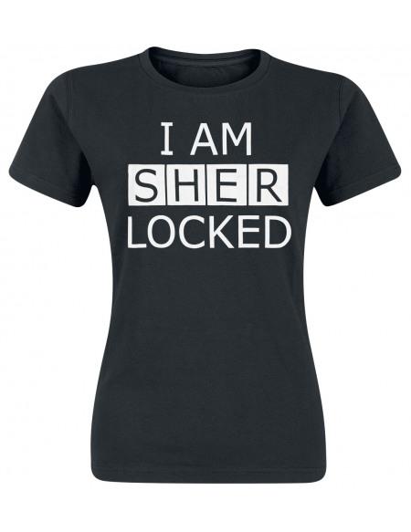 Sherlock I Am Sherlocked T-shirt Femme noir