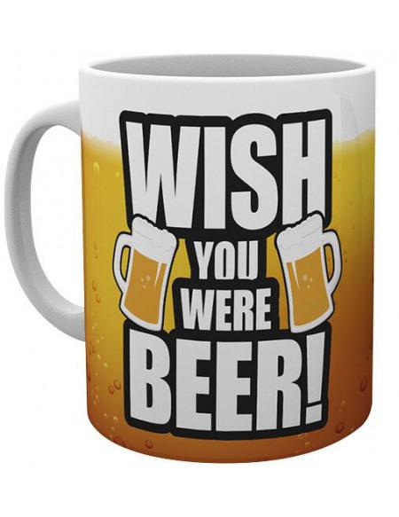 Wish you were beer! Mug blanc