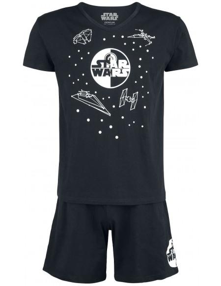Star Wars Faucon Millenium Pyjama noir