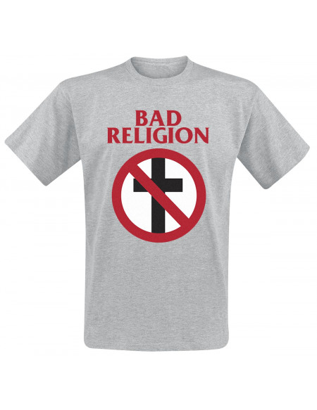 Bad Religion Cross Buster T-shirt gris clair chiné