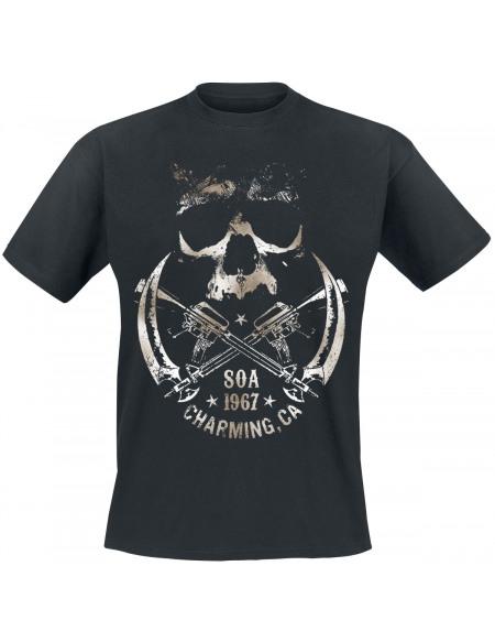 Sons Of Anarchy Crâne et Faucille T-shirt noir