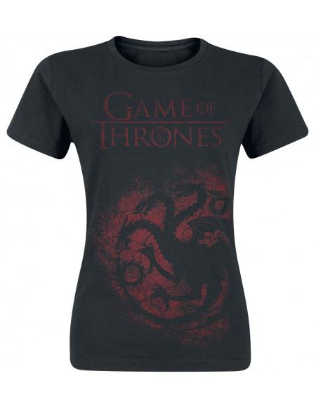 Game Of Thrones Maison Targaryen T-shirt Femme noir