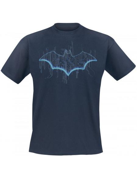 Batman Signal Néon T-shirt marine