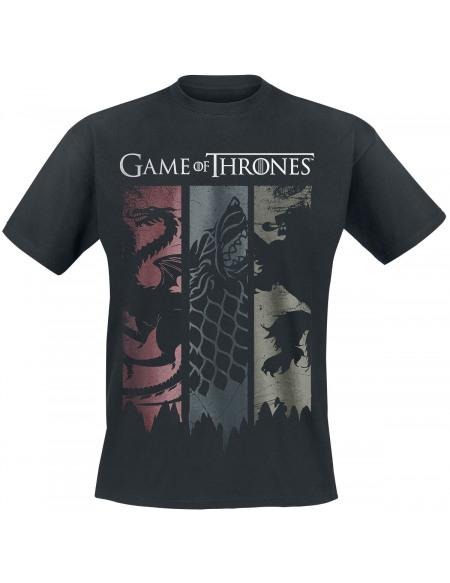 Game Of Thrones Emblèmes sur bannières T-shirt noir