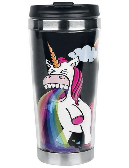 Unicorn Puking Unicorn - Rainbow Mug isotherme multicolore