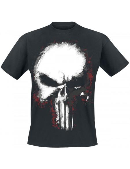 The Punisher Shattered Skull T-shirt noir