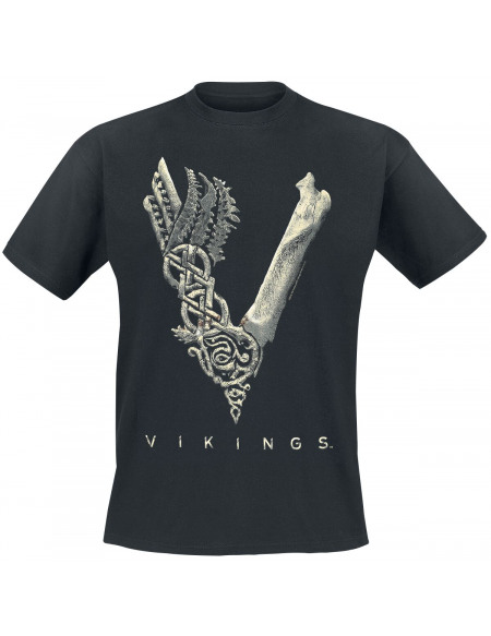 Vikings Logo T-shirt noir