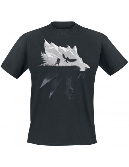 The Witcher Silhouette Loup T-shirt noir