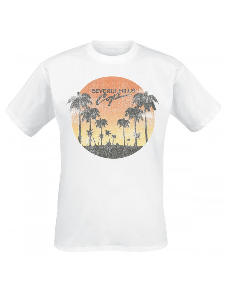 Le Flic De Beverly Hills Sunset T-shirt blanc