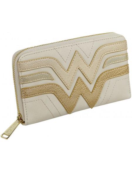 Wonder Woman Loungefly - Logo Portefeuille beige