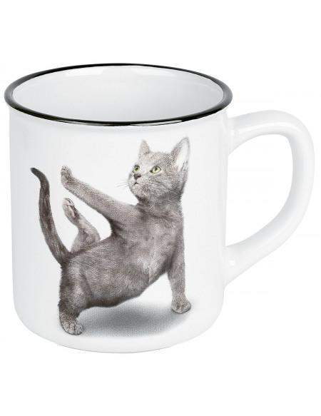 Yoga Cats Warroir Mug multicolore