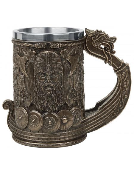 Nemesis Now Bronze Drakkar Viking Chope à bière noir