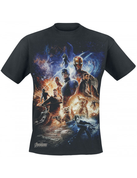 Avengers Endgame - Collage T-shirt noir