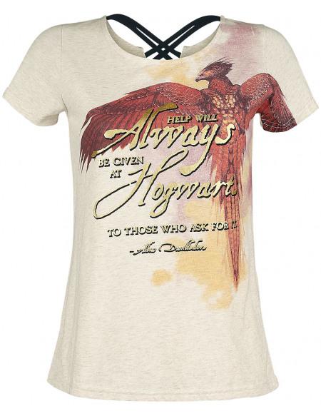Harry Potter Phoenix T-shirt Femme crème marbrée