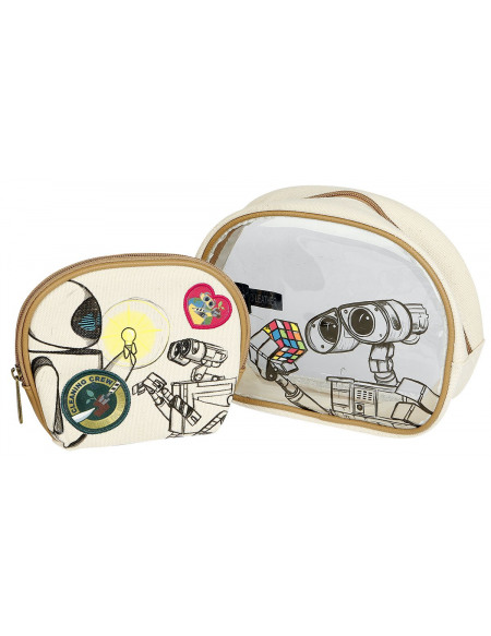 Wall-E Loungefly - Wall-E & Eve Trousse de Toilette beige/marron