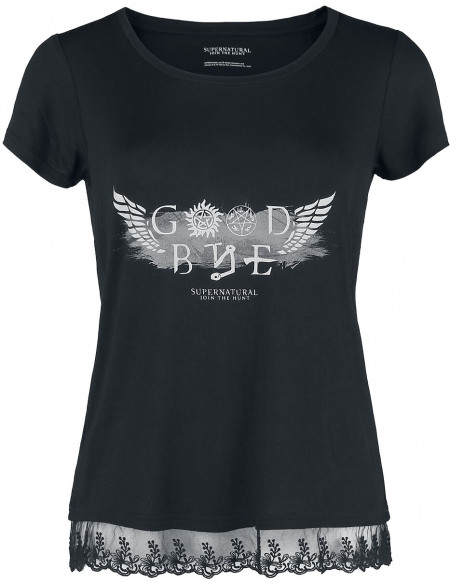 Supernatural Goodbye T-shirt Femme noir