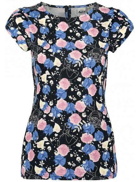 Alice Au Pays Des Merveilles Flora T-shirt Femme multicolore