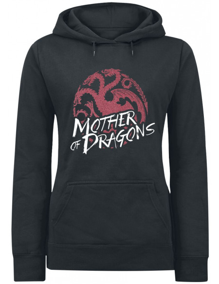 Game Of Thrones Mother Of Dragons Sweat à Capuche Femme noir