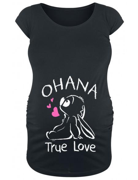 Lilo & Stitch Ohana - Vêtement De Maternité T-shirt Femme noir