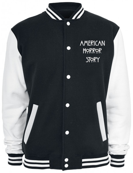 American Horror Story All Monsters Are Human Veste de Football Américain noir/blanc