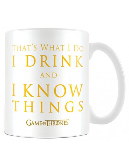Game Of Thrones I Drink And I Know Things Mug multicolore