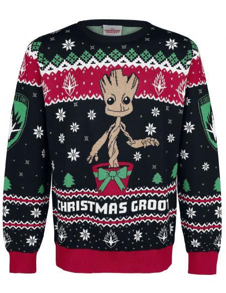 Les Gardiens De La Galaxie Groot Pull tricoté multicolore
