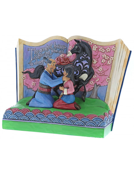 Mulan The Greatest Honor Is Having You As A Daughter (Storybook Mulan) Statuette Standard