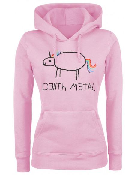 Death Metal Sweat à Capuche Femme rose clair