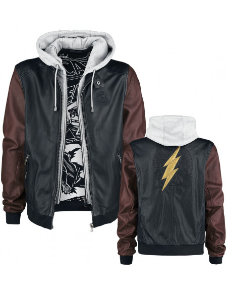 Justice League The Flash - Cosplay Blouson en Cuir multicolore