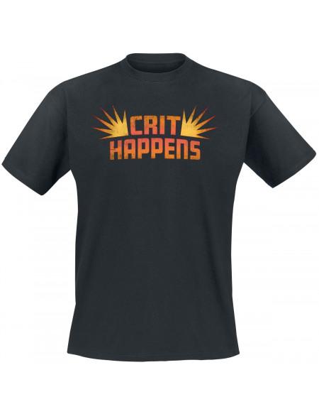 Crit Happens T-shirt noir