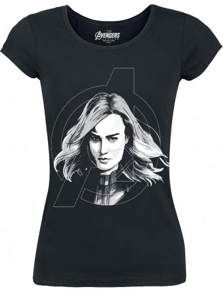 Avengers Endgame - Captain Marvel T-shirt Femme noir