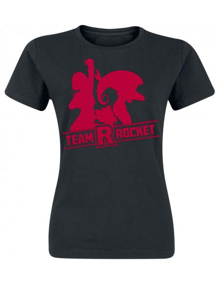 Pokémon Team Rocket T-shirt Femme noir