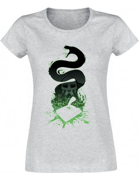 Harry Potter Silhouette Nagini T-shirt Femme gris chiné
