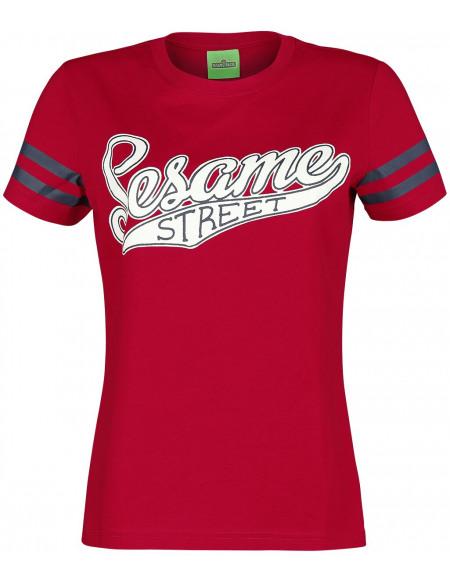 Sesame Street Elmo T-shirt Femme rouge