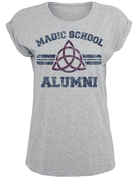 Charmed Magic School Alumni T-shirt Femme gris chiné