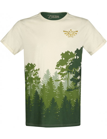 The Legend Of Zelda Hyrule - Forêt T-shirt blanc cassé