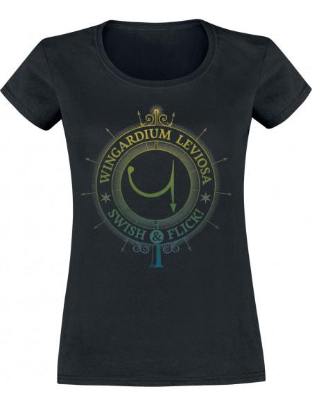 Harry Potter Spells & Charms T-shirt Femme noir