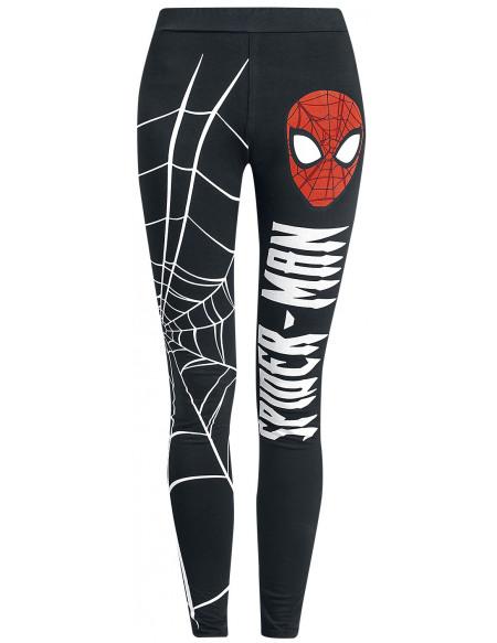 Spider-Man Toile D'Araignée Legging noir/blanc
