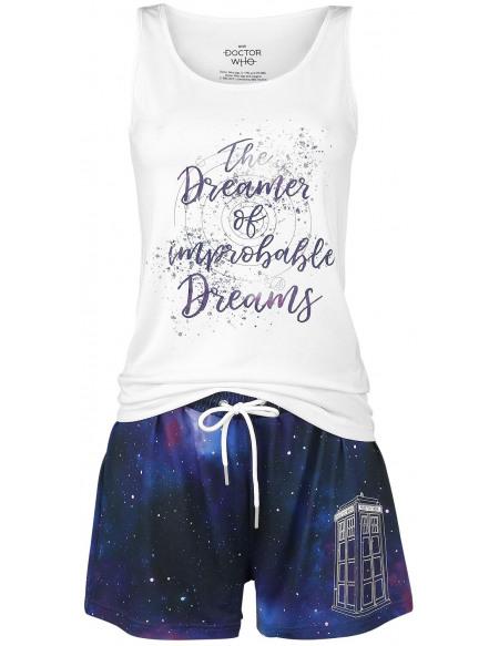 Doctor Who Dreamer Pyjama blanc/multicolore